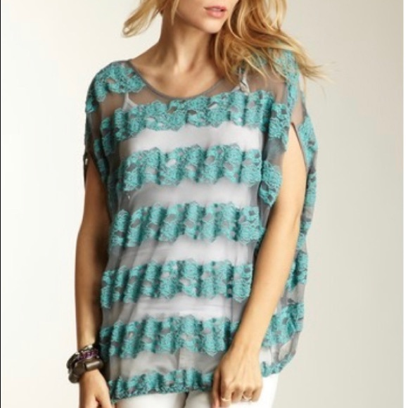 Free People • County Fair Banded Lace Blouse
